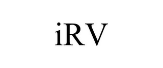 mark for IRV, trademark #85734183