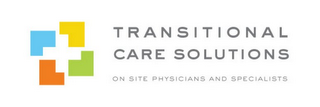 mark for TRANSITIONAL CARE SOLUTIONS ON-SITE PHYSICIANS AND SPECIALISTS, trademark #85735201