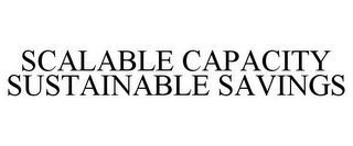 mark for SCALABLE CAPACITY SUSTAINABLE SAVINGS, trademark #85735696