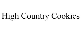 mark for HIGH COUNTRY COOKIES, trademark #85736537