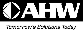 mark for AHW TOMORROW'S SOLUTIONS TODAY, trademark #85736922