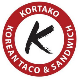 mark for KORTAKO KOREAN TACO & SANDWICH K, trademark #85736983