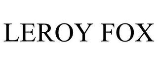 mark for LEROY FOX, trademark #85737017