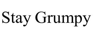 mark for STAY GRUMPY, trademark #85737085