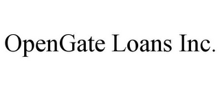 mark for OPENGATE LOANS INC., trademark #85737410