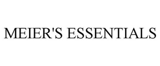mark for MEIER'S ESSENTIALS, trademark #85737497