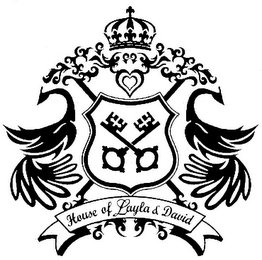 mark for HOUSE OF LAYLA & DAVID, trademark #85737708