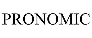 mark for PRONOMIC, trademark #85738166