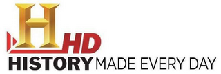 mark for H HISTORY HD MADE EVERY DAY, trademark #85738224