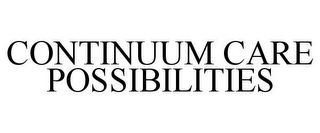 mark for CONTINUUM CARE POSSIBILITIES, trademark #85739391