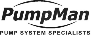 mark for PUMPMAN PUMP SYSTEM SPECIALISTS, trademark #85739401