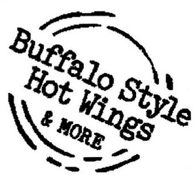 mark for BUFFALO STYLE HOT WINGS & MORE, trademark #85739714