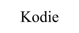 mark for KODIE, trademark #85739816