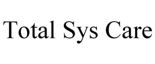 mark for TOTAL SYS CARE, trademark #85740872