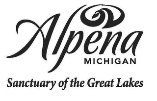 mark for ALPENA MICHIGAN SANCTUARY OF THE GREAT LAKES, trademark #85740922