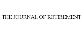mark for THE JOURNAL OF RETIREMENT, trademark #85741136