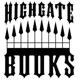 mark for HIGHGATE BOOKS, trademark #85741182