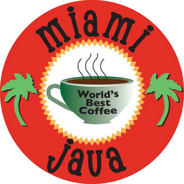 mark for MIAMI JAVA WORLD'S BEST COFFEE, trademark #85741674