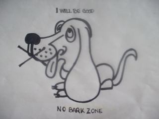 mark for I WILL BE GOOD. NO BARK ZONE, trademark #85742193