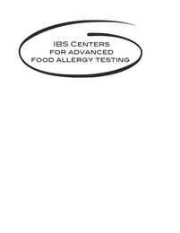 mark for IBS CENTERS FOR ADVANCED FOOD ALLERGY TESTING, trademark #85742266