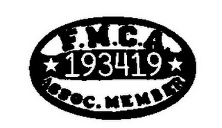 mark for F.M.C.A. 193419 ASSOC. MEMBER, trademark #85742668