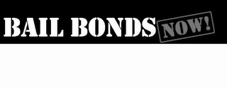 mark for BAIL BONDS NOW!, trademark #85742764