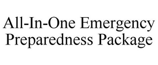 mark for ALL-IN-ONE EMERGENCY PREPAREDNESS PACKAGE, trademark #85743012