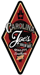 mark for CAROLINA JOE'S GRILLIN' SAUCE QUALITY SOUTHERN SOUL, trademark #85743434