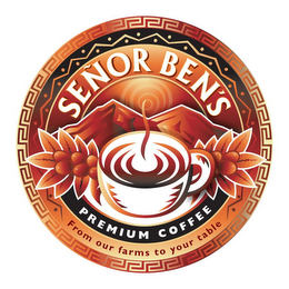 mark for SENOR BEN'S COFFEE, trademark #85743473