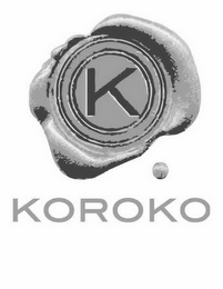 mark for K KOROKO, trademark #85743969