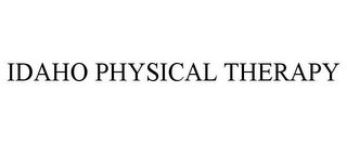 mark for IDAHO PHYSICAL THERAPY, trademark #85744434