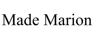 mark for MADE MARION, trademark #85744958