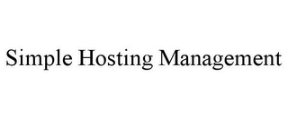 mark for SIMPLE HOSTING MANAGEMENT, trademark #85745112