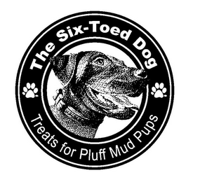 mark for THE SIX-TOED DOG TREATS FOR PLUFF MUD PUPS, trademark #85745392
