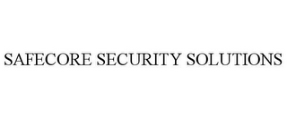 mark for SAFECORE SECURITY SOLUTIONS, trademark #85745789