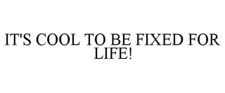 mark for IT'S COOL TO BE FIXED FOR LIFE!, trademark #85746165