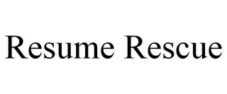 mark for RESUME RESCUE, trademark #85746625
