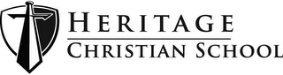 mark for HERITAGE CHRISTIAN SCHOOL, trademark #85746881