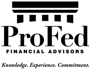 mark for PROFED FINANCIAL ADVISORS KNOWLEDGE. EXPERIENCE. COMMITMENT., trademark #85747093