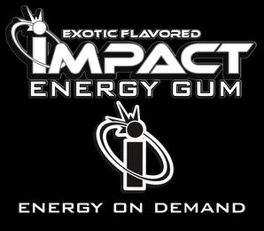 mark for EXOTIC FLAVORED IMPACT ENERGY GUM I ENERGY ON DEMAND, trademark #85747152