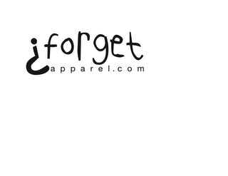 mark for FORGET APPAREL.COM, trademark #85747185