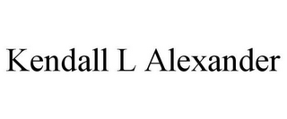 mark for KENDALL L ALEXANDER, trademark #85747379