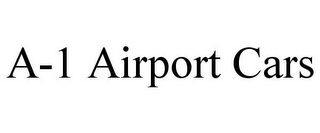 mark for A-1 AIRPORT CARS, trademark #85747582
