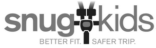 mark for SNUG KIDS BETTER FIT. SAFER TRIP., trademark #85747832