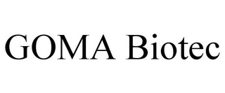 mark for GOMA BIOTEC, trademark #85747864