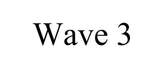 mark for WAVE 3, trademark #85748113