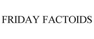 mark for FRIDAY FACTOIDS, trademark #85748961