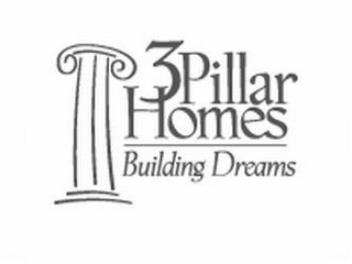 mark for 3 PILLAR HOMES BUILDING DREAMS, trademark #85749028