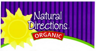 mark for NATURAL DIRECTIONS ORGANIC, trademark #85749064