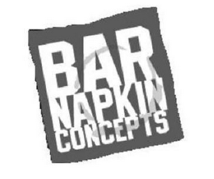 mark for BAR NAPKIN CONCEPTS, trademark #85749337